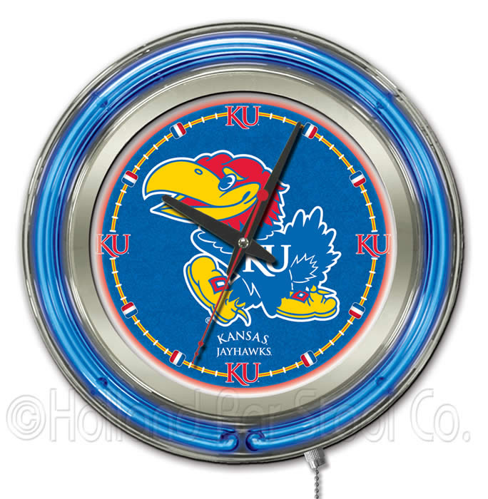 College Logo Neon Clocks