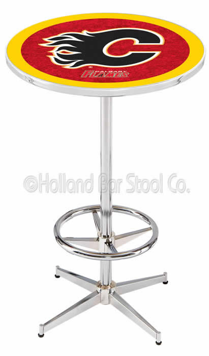 Calgary Flames L216 NHL Logo Bar Table