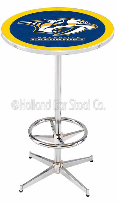 Nashville Predators L216 NHL Logo Bar Table