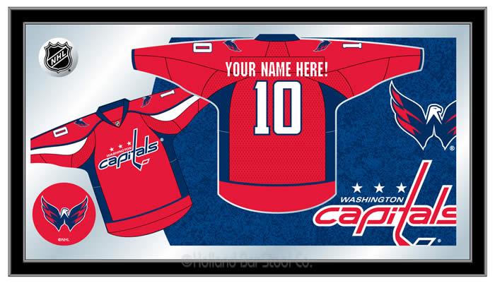 5e1ce917 HBS NHL Personalized Jersey Mirrors / Holland Bar Stool NHL Mirrors / NHL  Team Mirrors / Hockey Team Mirrors