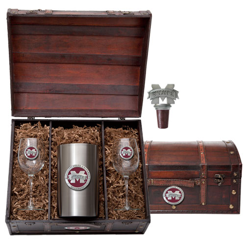 College Logo Wine Chest Sets