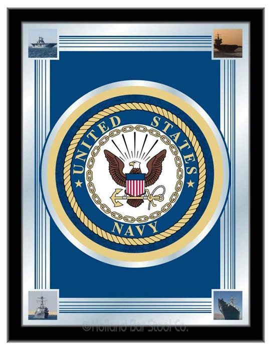 United States Navy Logo Wall Mirror